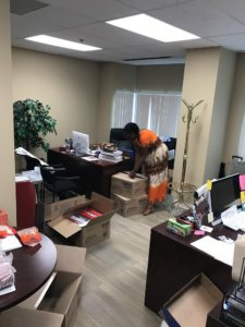 Moving into new office